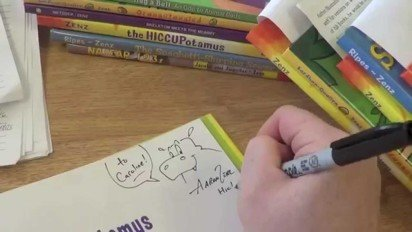 Author Visit to Michigan School by Aaron Zenz