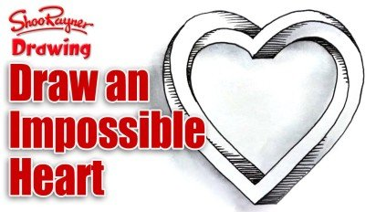 How to Draw an Impossible Heart for Valentine's Day
