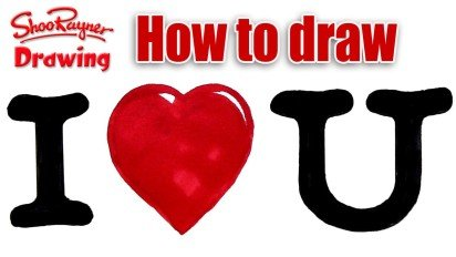 How to draw I Heart U – for Valentines
