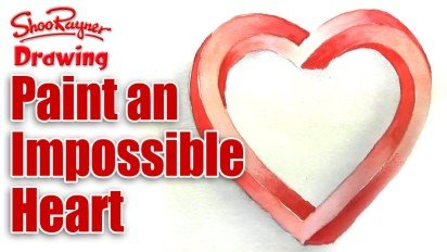 How to Paint an Impossible Heart for Valentine's Day