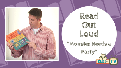 Read Out Loud | Paul Czajak Reads 'Monster Needs a Party'