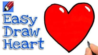 How to Draw a Heart for Kids and Beginners