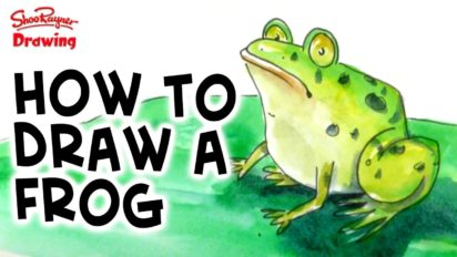 How to Draw & Paint a Frog in Watercolor
