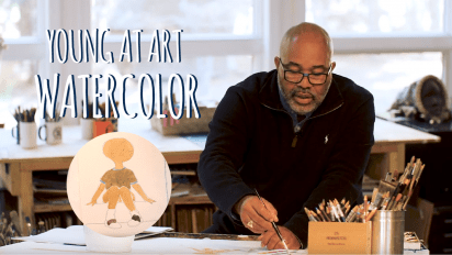 YOUNG AT ART with James Ransome NEW RED BIKE Watercolor!