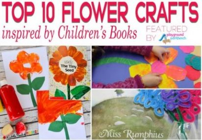 Ten Book Inspired Flower Crafts For Spring Time