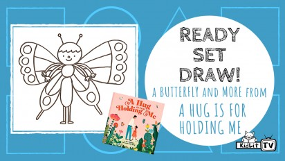 Ready Set Draw! A butterfly and bee from A HUG IS FOR HOLDING ME