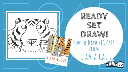 Ready Set Draw! How to draw a BIG CAT from I AM A CAT