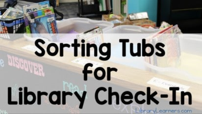 Sorting Tubs for Library Check-In