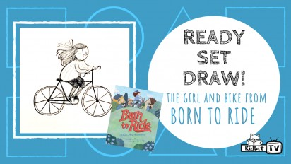 Ready Set Draw! The girl & bike from BORN TO RIDE