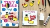 Keith Zoo's TINY WORLD: PINS! craft kits come with the materials & instructions to create your own set of adorable corgi, watermelon, & pineapple mini-pins.