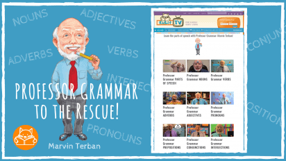 Professor Grammar to the Rescue! Learning at Home