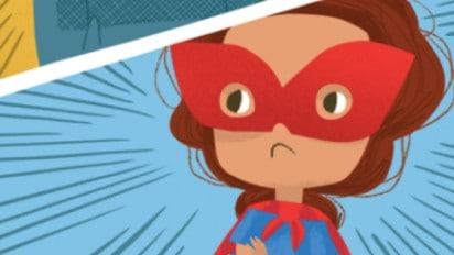 Design Your Own SUPERHEROES DON'T BABYSIT Mask