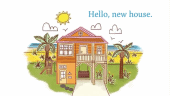 Forthcoming picture book HELLO NEW HOUSE is a heartwarming family story illustrates how some things change, but others remain the same.