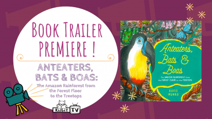 Book Trailer PREMIERE! ANTEATERS, BATS & BOAS by Roxie Munro
